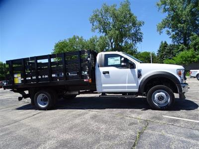 2020 Ford F-450 Regular Cab DRW 4x4, Monroe Work-A-Hauler II Stake Bed #F40523 - photo 3