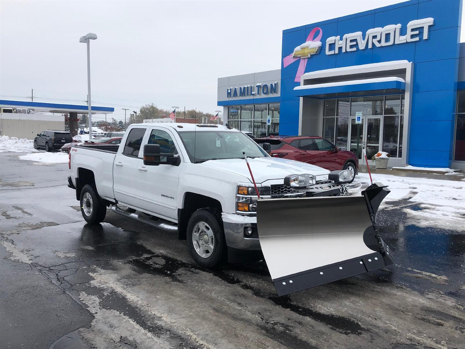 2019 Chevrolet Silverado 2500 Double Cab 4x4, Western Snowplow Pickup #85166 - photo 2