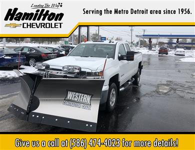 2019 Chevrolet Silverado 2500 Double Cab 4x4, Western Snowplow Pickup #85166 - photo 1