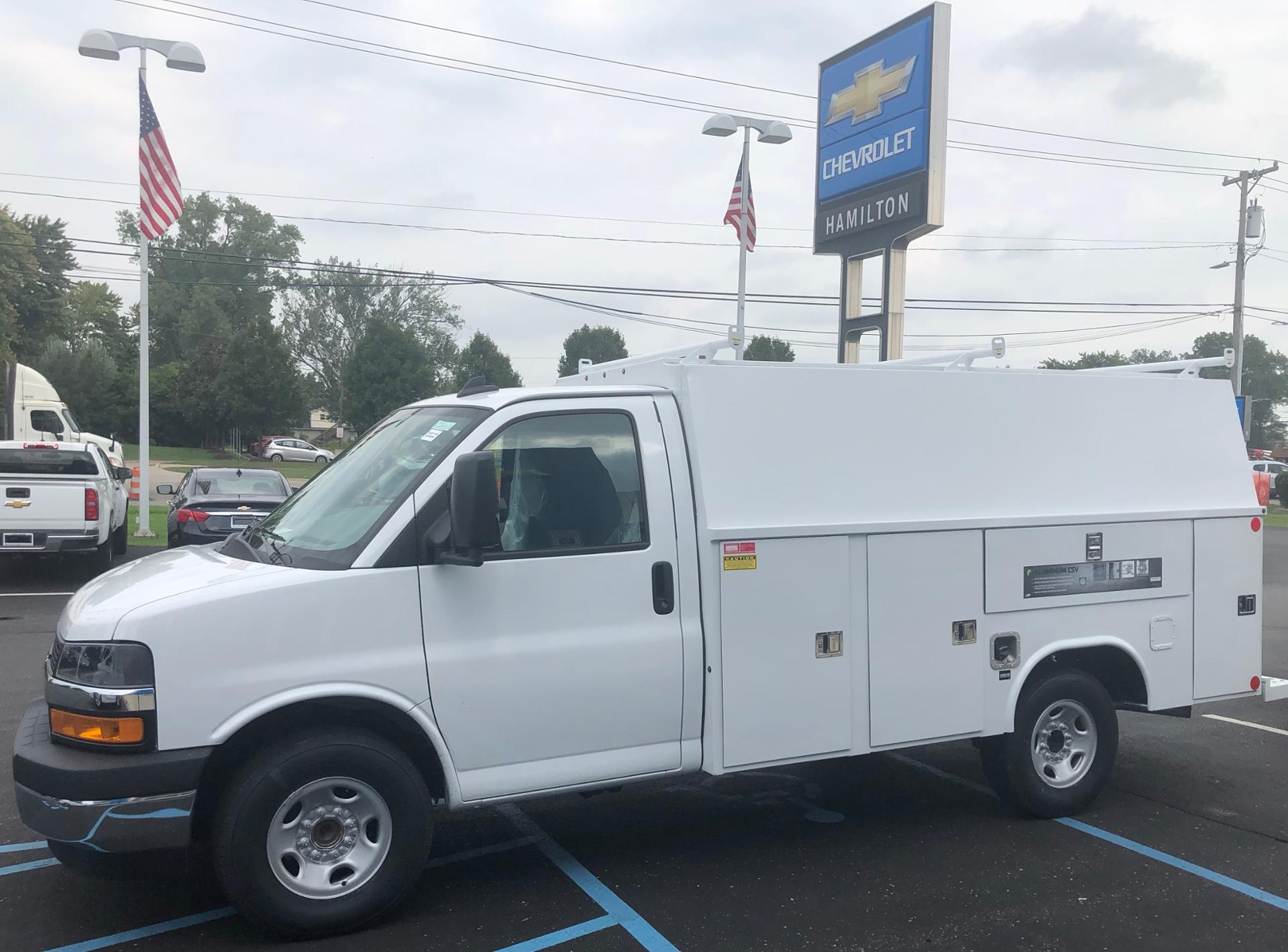 2019 Express 3500 4x2,  Reading Aluminum CSV Service Utility Van #85747 - photo 1