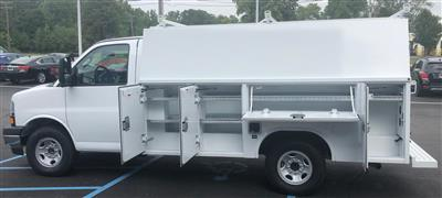 2019 Express 3500 4x2,  Reading Aluminum CSV Service Utility Van #85747 - photo 2