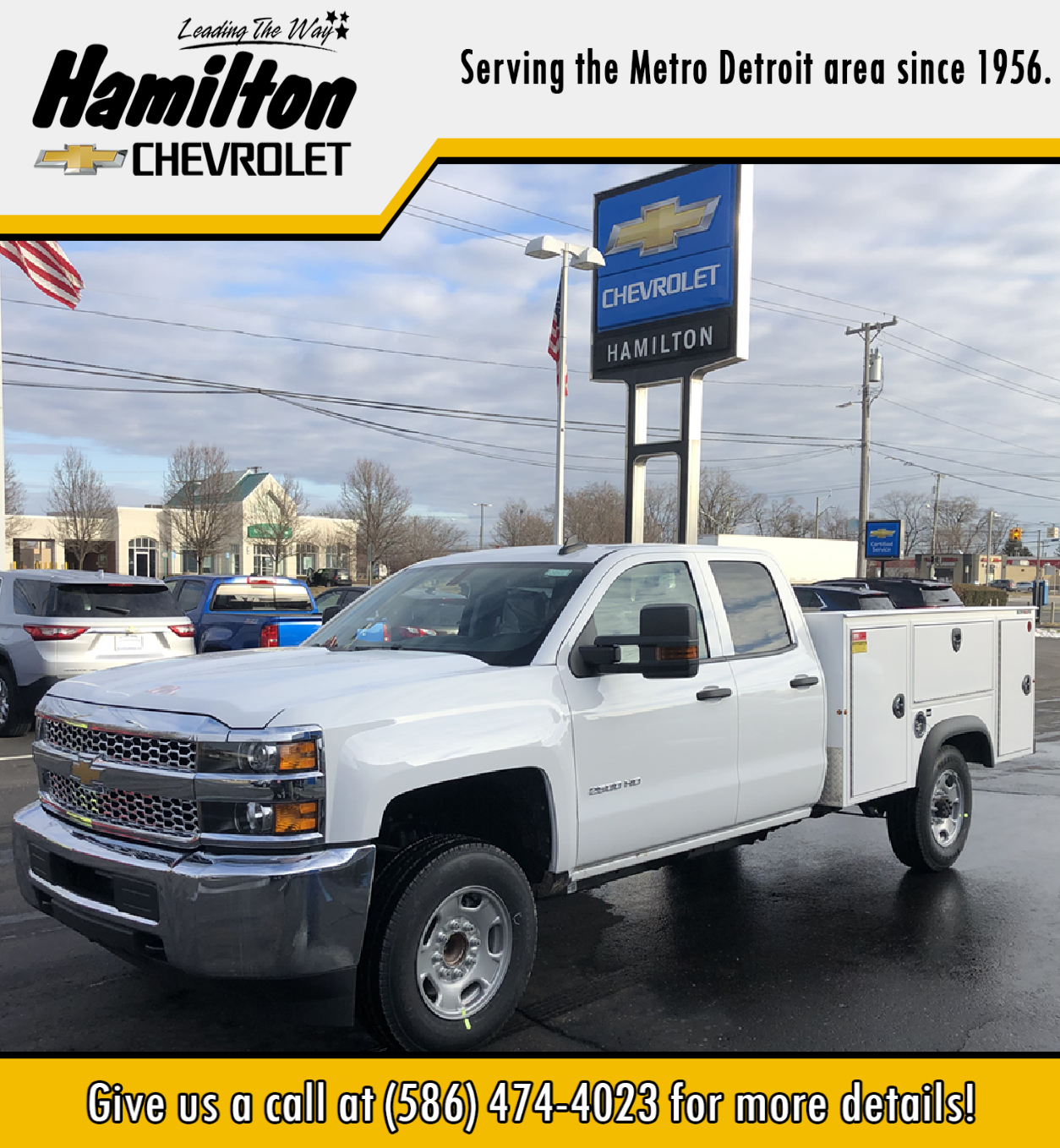 2019 Chevrolet Silverado 2500 Double Cab 4x2, Reading Classic II Aluminum  Service Body #87969 - photo 1