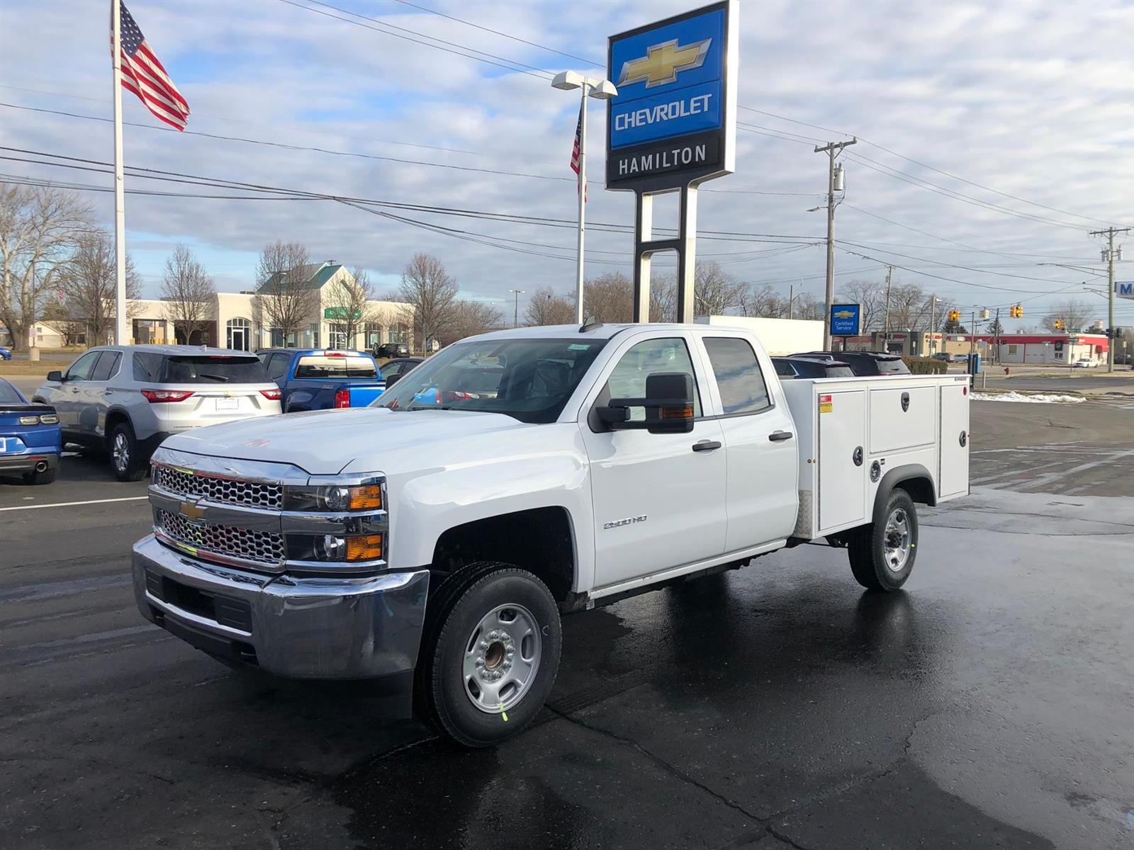 2019 Chevrolet Silverado 2500 Double Cab 4x2, Reading Classic II Aluminum  Service Body #87969 - photo 4