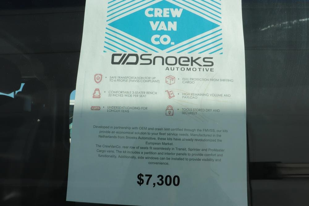 2020 Ram ProMaster 3500 High Roof FWD, CrewVanCo Cabin Conversion Crew Van #620974 - photo 30