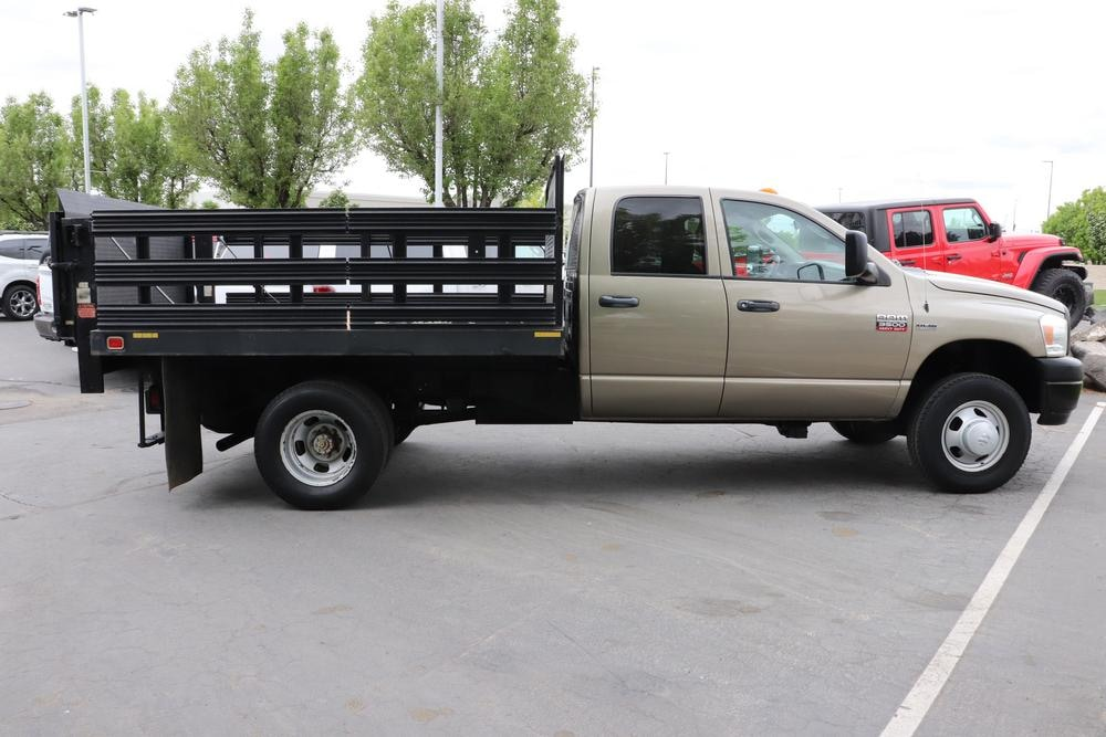 2008 Ram 3500 Quad Cab DRW 4x4, Stake Bed #9C93581A - photo 8