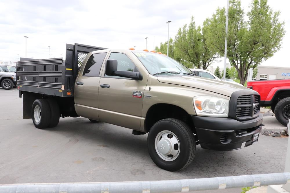 2008 Ram 3500 Quad Cab DRW 4x4, Stake Bed #9C93581A - photo 9