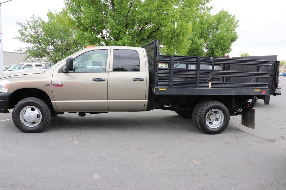 2008 Ram 3500 Quad Cab DRW 4x4, Stake Bed #9C93581A - photo 5