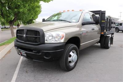2008 Ram 3500 Quad Cab DRW 4x4, Stake Bed #9C93581A - photo 4