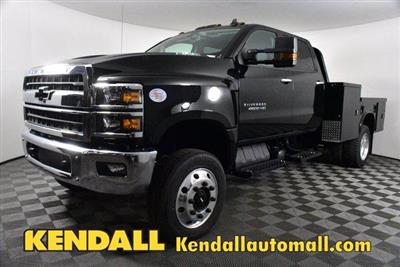 2019 Silverado Medium Duty Crew Cab DRW 4x4, Platform Body #D191021 - photo 1