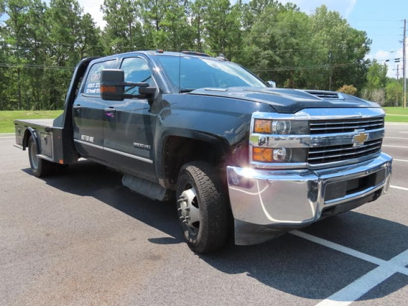 2017 Chevrolet Silverado 3500 Crew Cab DRW 4x4, Platform Body #R199003A - photo 1