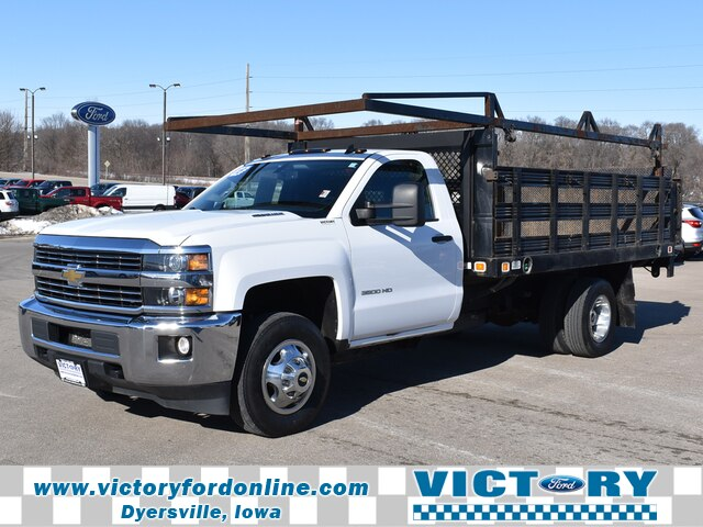 2015 Chevrolet Silverado 3500 Regular Cab DRW 4x4, Stake Bed #D4008 - photo 1