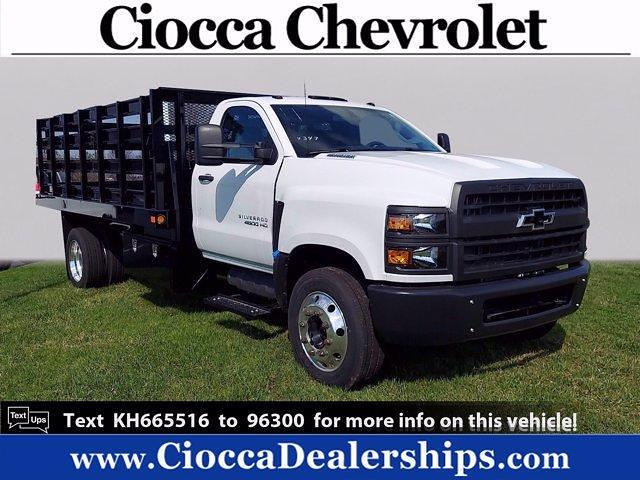 2019 Chevrolet Silverado Medium Duty Regular Cab DRW 4x2, Intercon Truck Equipment Stake Bed #KH665516 - photo 1