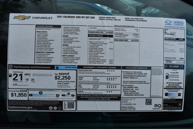 2021 Chevrolet Colorado Extended Cab 4x2, Pickup #M1113559 - photo 11