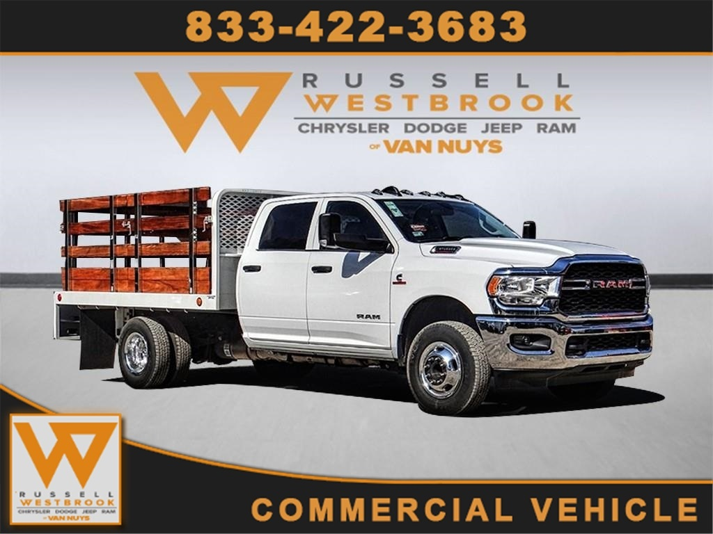 2019 Ram 3500 Crew Cab DRW 4x2, Scelzi Stake Bed #RM193261 - photo 1