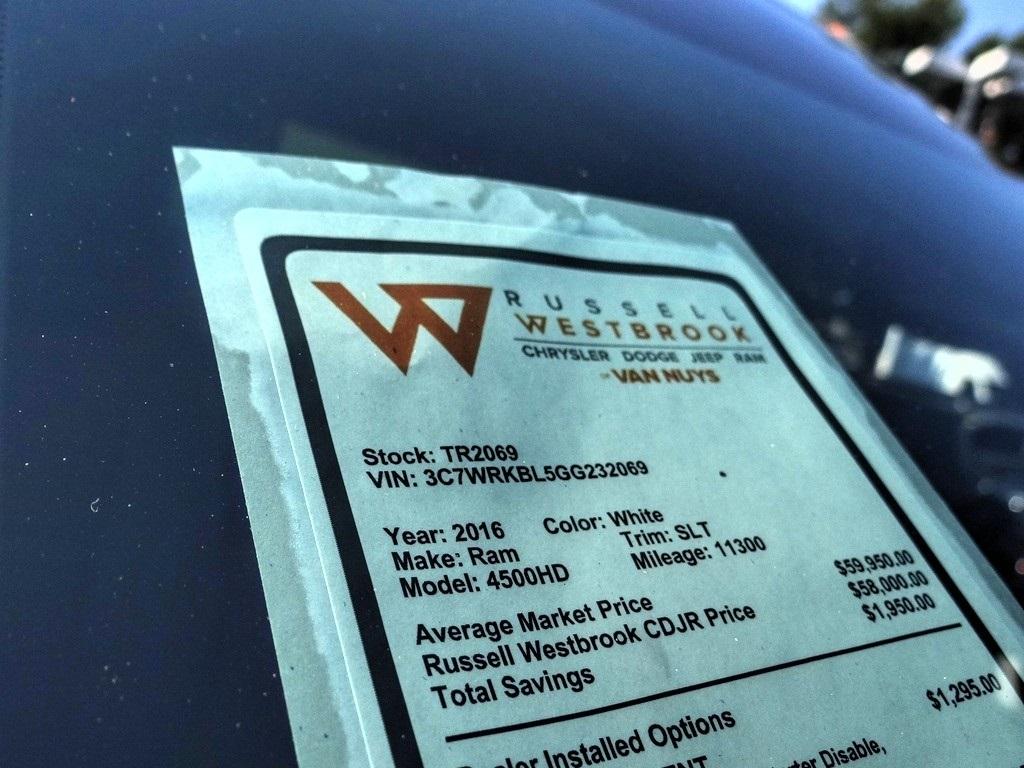 2016 Ram 4500 Regular Cab DRW 4x2, Scelzi Welder Body #TR2069 - photo 22