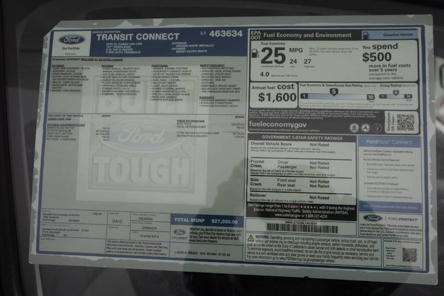 2020 Ford Transit Connect FWD, Empty Cargo Van #JF16010 - photo 15