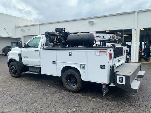 2019 Chevrolet Silverado Medium Duty Regular Cab DRW 4x2, 9 foot crane body #C191027 - photo 1