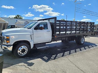 2021 Silverado 6500 Regular Cab DRW 4x2,  CM Truck Beds Stake Bed #C210450 - photo 3