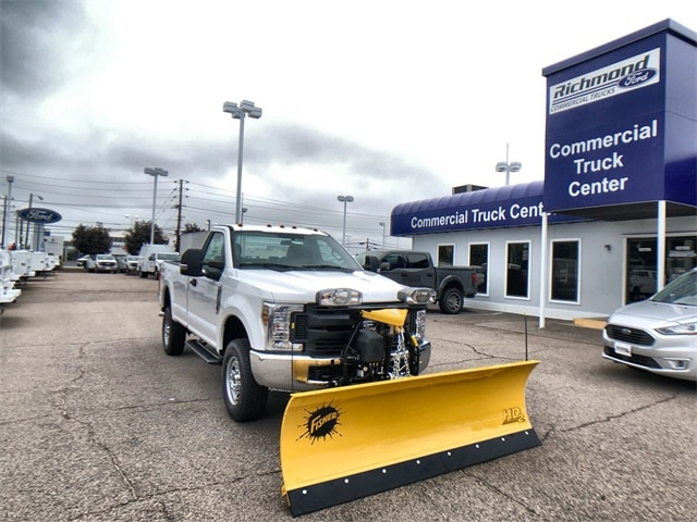 2019 F-250 Regular Cab 4x4, Fisher Snowplow Pickup #L191227 - photo 1