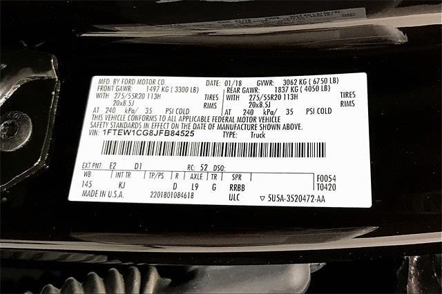 2018 Ford F-150 SuperCrew Cab 4x2, Pickup #LTIB84525 - photo 37