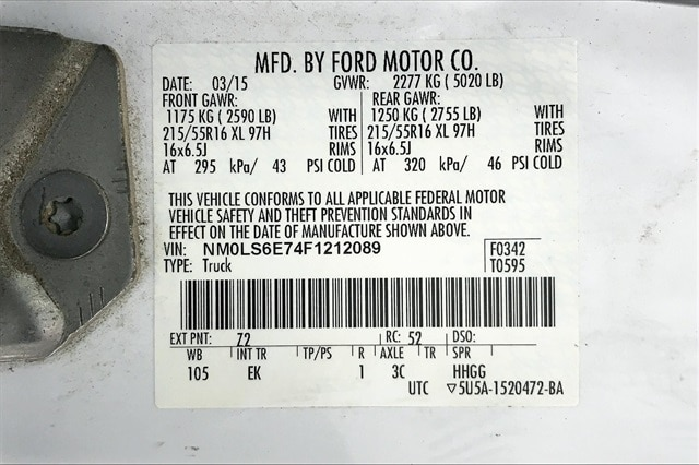 2015 Ford Transit Connect FWD, Empty Cargo Van #PF1212089 - photo 37