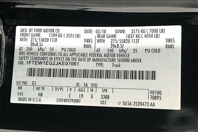 2018 Ford F-150 SuperCrew Cab 4x4, Pickup #PJKE07081 - photo 37