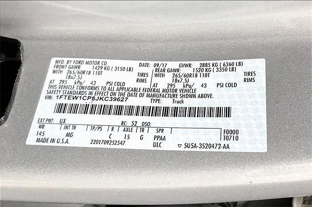 2018 Ford F-150 SuperCrew Cab 4x2, Pickup #TJKC39627 - photo 37