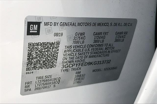 2019 Chevrolet Silverado 1500 Crew Cab 4x4, Pickup #TKG313732 - photo 37