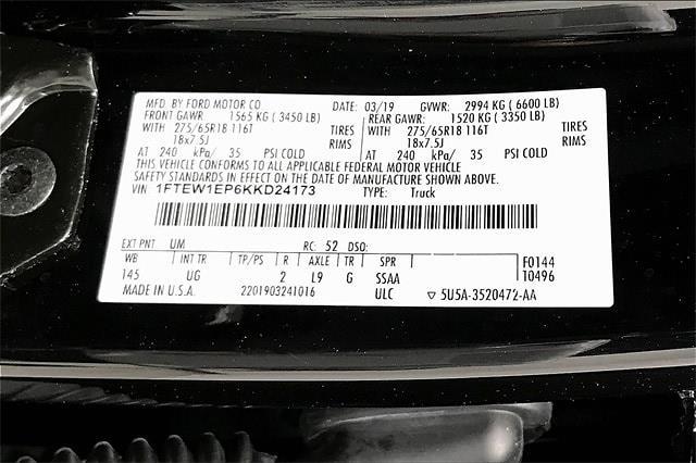 2019 Ford F-150 SuperCrew Cab 4x4, Pickup #TKKD24173 - photo 37