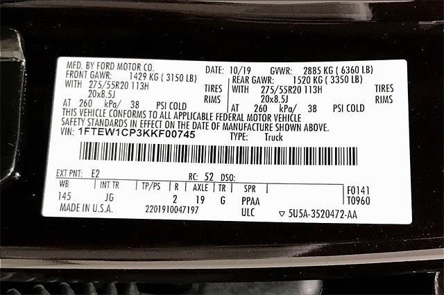 2019 Ford F-150 SuperCrew Cab 4x2, Pickup #TKKF00745 - photo 37