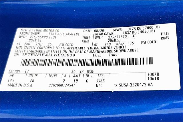 2020 Ford F-150 SuperCrew Cab 4x4, Pickup #TLKE93039 - photo 37