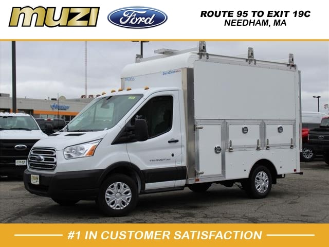 2019 Ford Transit 350 RWD, UNDER 10,000# GVWR!! 10' DEJANA DURACUBE MAX, HARDWOOD FLOOR, LADDER RACK, CAT WALK, REAR CAMERA #KB48396 - photo 1
