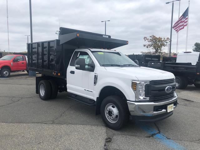 2019 Ford F-350 Regular Cab DRW 4x4, 9' LANDSCAPE BODY SWING DOORS IN REAR #SKG28728 - photo 3