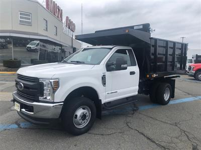 2019 Ford F-350 Regular Cab DRW 4x4, 9' LANDSCAPE BODY SWING DOORS IN REAR #SKG28728 - photo 1
