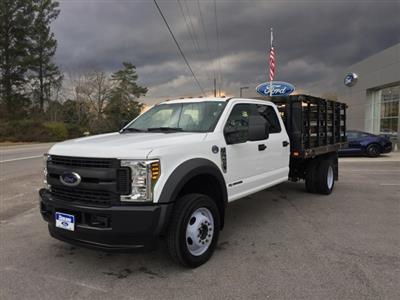 2019 Ford F-450 Crew Cab DRW 4x4, Stake Bed #3360U - photo 4