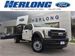 2019 Ford F-450 Crew Cab DRW 4x4, Stake Bed #3360U - photo 1