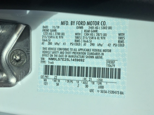 2020 Ford Transit Connect, Empty Cargo Van #T6080 - photo 28
