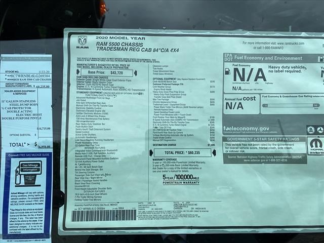 2020 Ram 5500 Regular Cab DRW 4x4, Galion Dump Body #1133-20 - photo 13