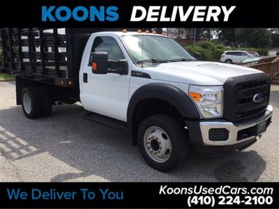 2016 Ford F-450 Regular Cab DRW RWD, Stake Bed #K2298A - photo 4