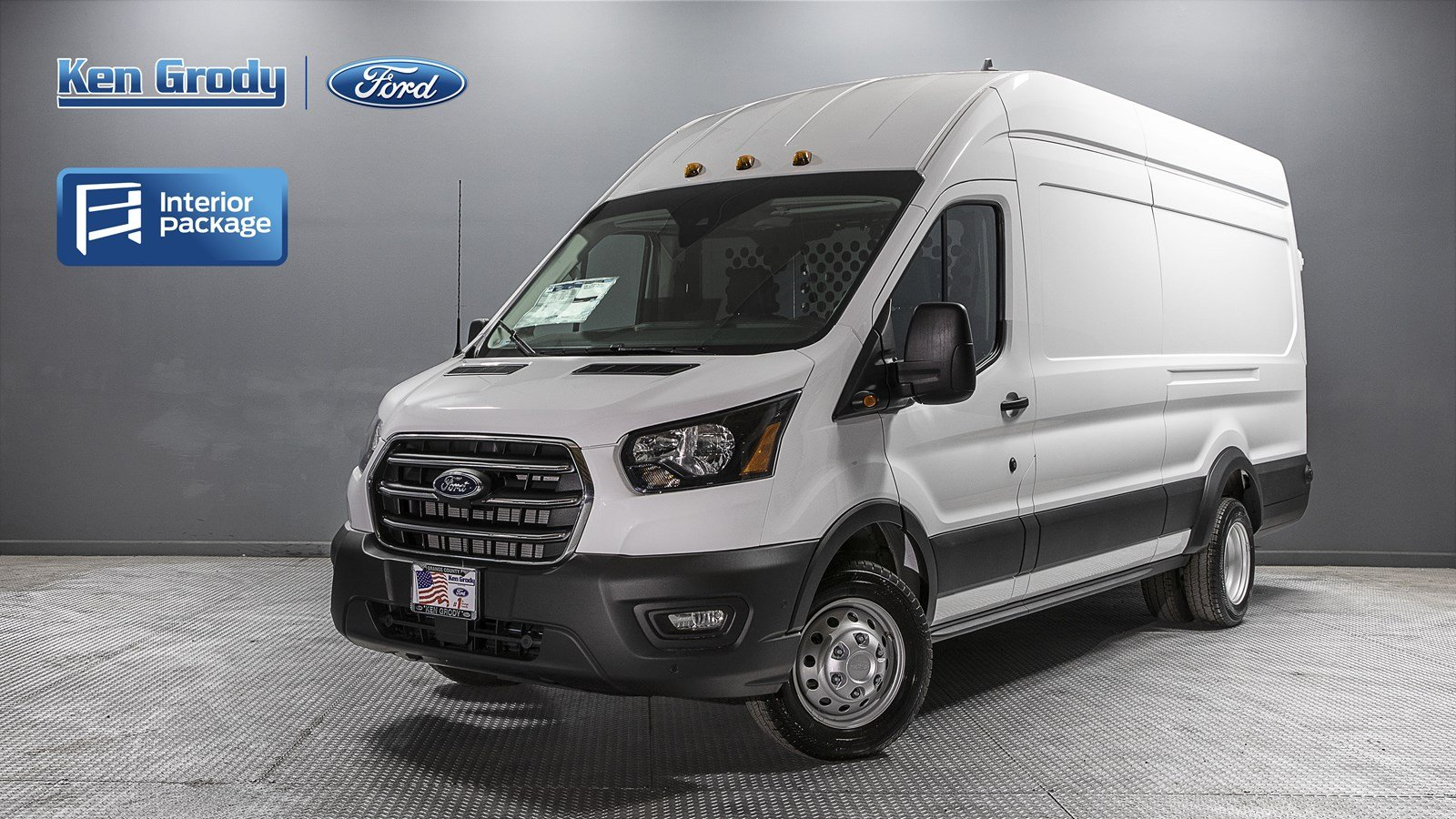 2020 Ford Transit 350 HD High Roof DRW RWD, Harbor Upfitted Cargo Van #01389 - photo 1