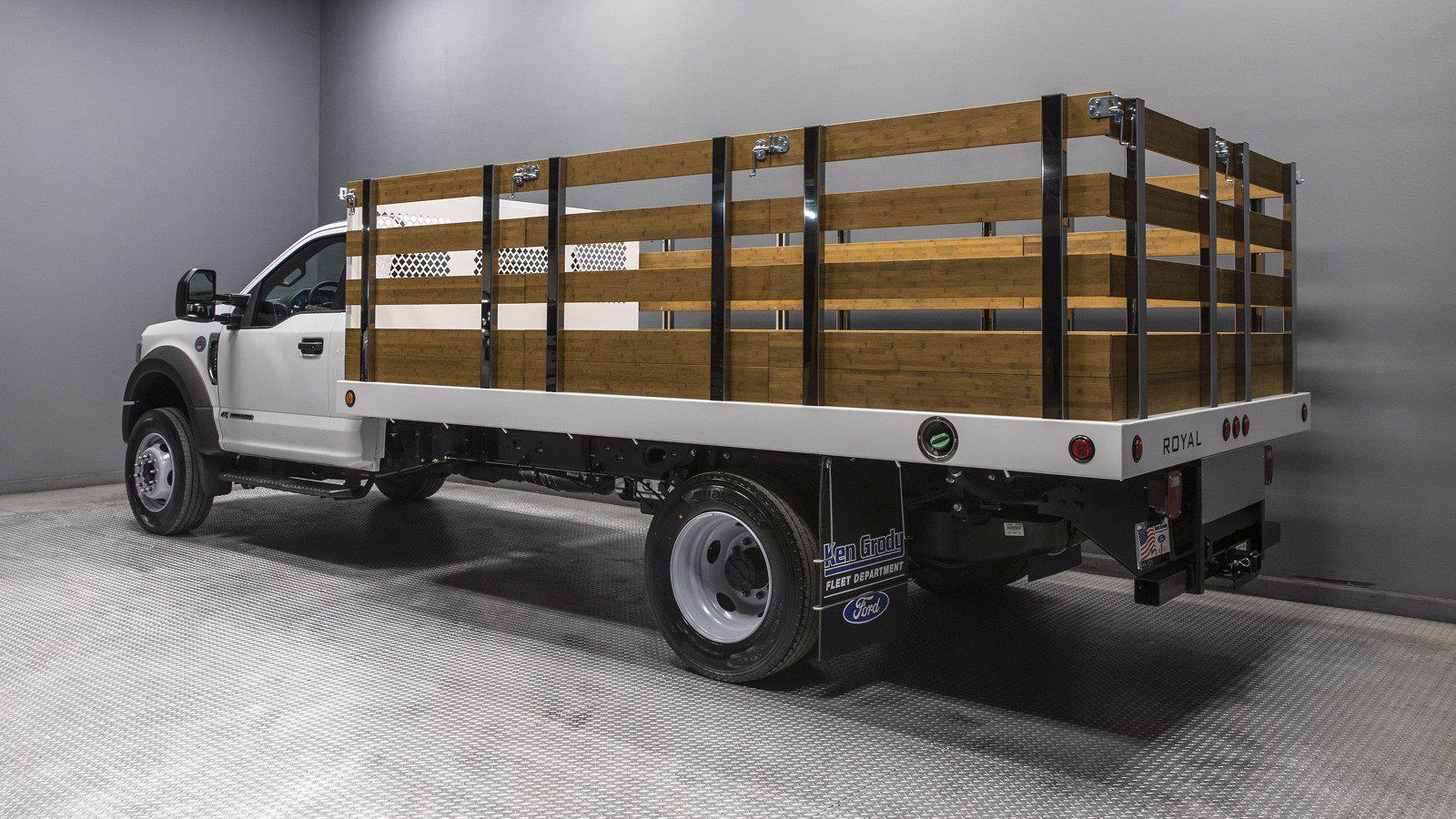 2021 Ford F-600 Regular Cab DRW 4x2, Royal Truck Body Platform Body #211419 - photo 1