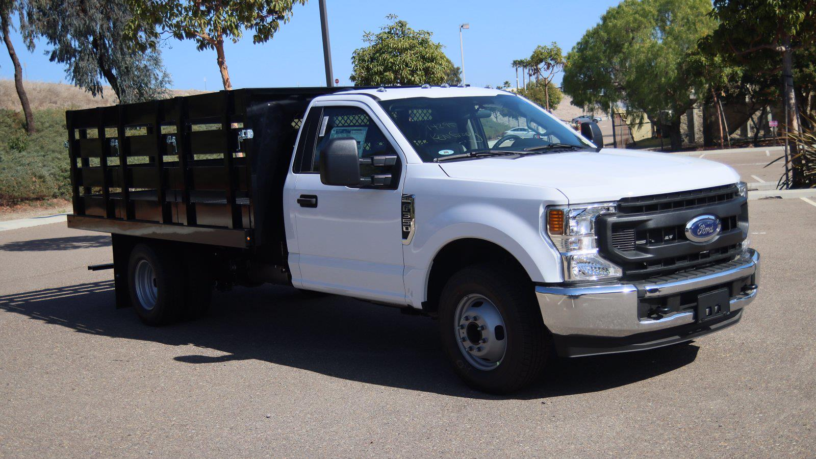 2021 Ford F-350 Regular Cab DRW 4x2, Harbor Stake Bed #215393 - photo 1