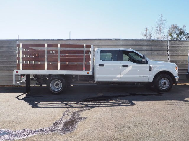 2020 Ford F-350 Crew Cab DRW 4x2, Scelzi Stake Bed #M23796 - photo 1