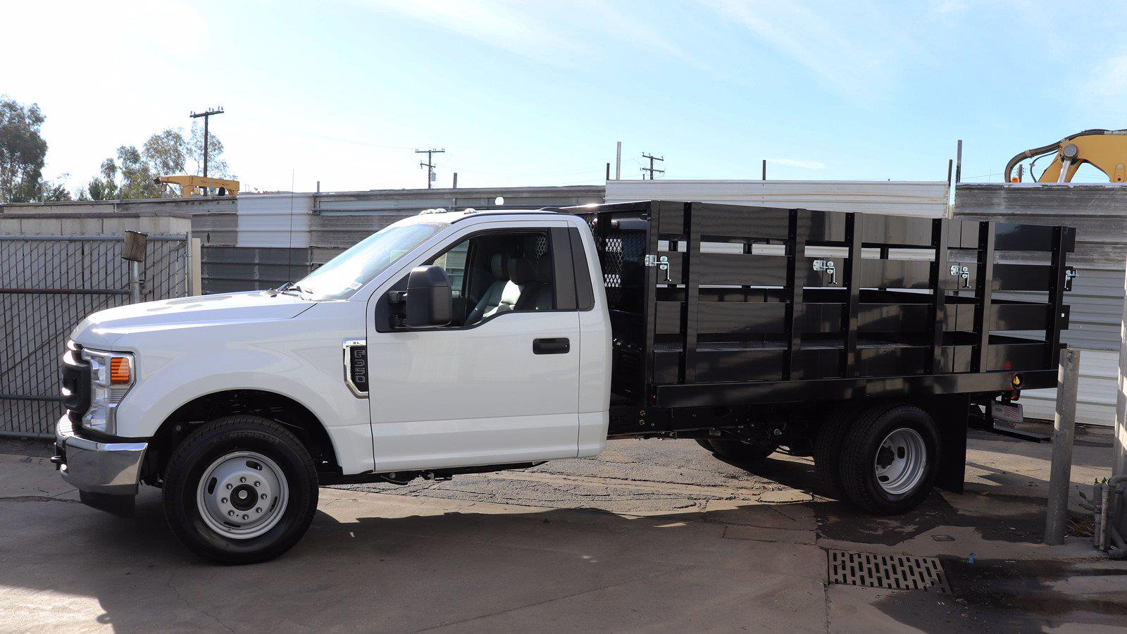 2021 Ford F-350 Regular Cab DRW 4x2, Harbor Stake Bed #M24430 - photo 1