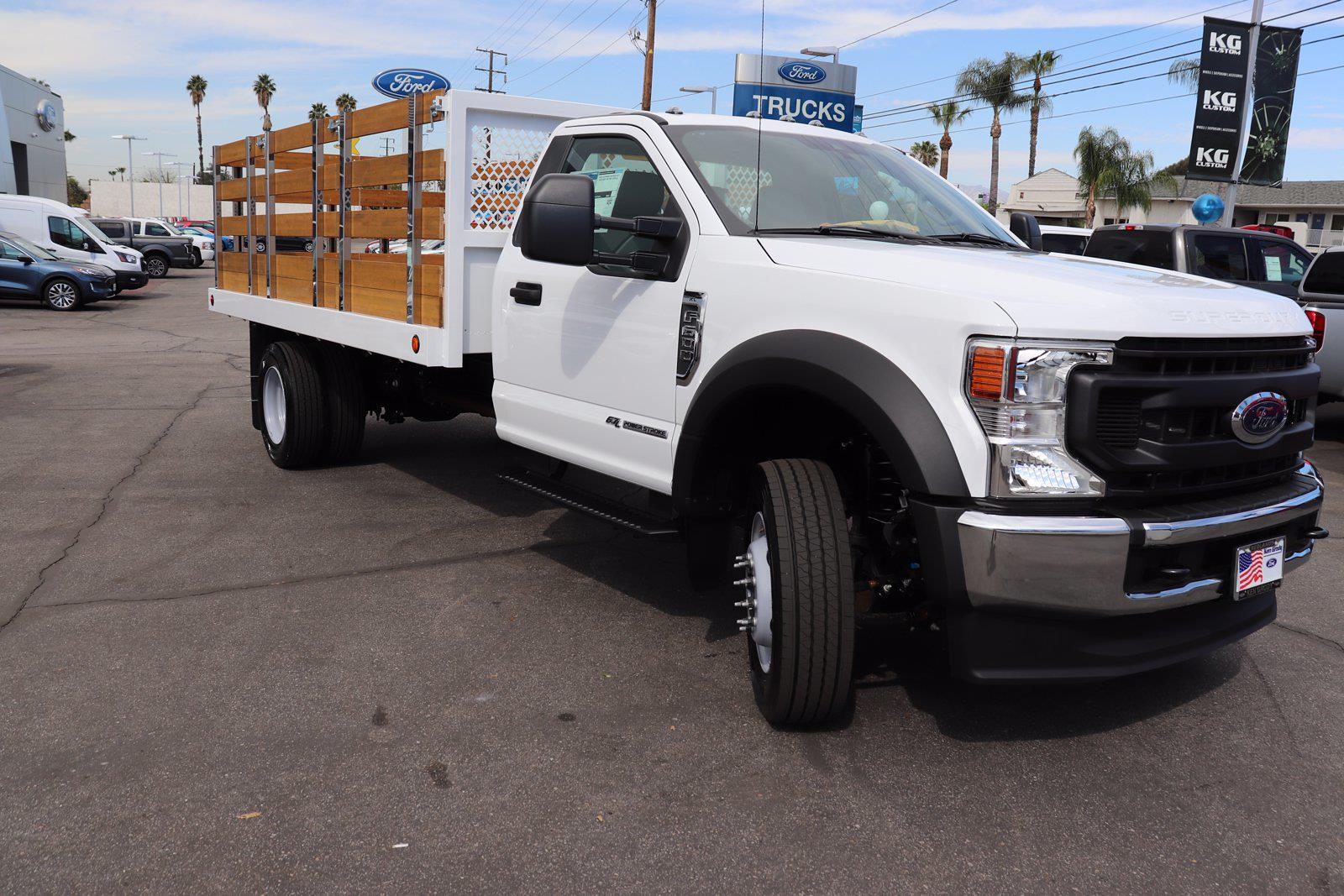 2021 Ford F-600 Regular Cab DRW 4x2, Royal Truck Body Stake Bed #212370 - photo 1
