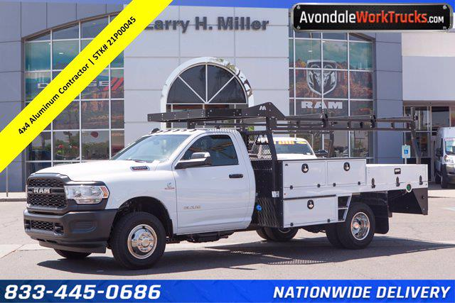 2021 Ram 3500 Regular Cab DRW 4x4, Milron Contractor Body #21P00045 - photo 1