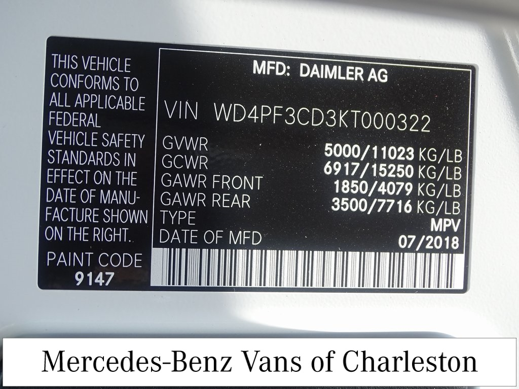 2019 Mercedes-Benz Sprinter 4500 Standard Roof 4x2, Empty Cargo Van #MB8970 - photo 22