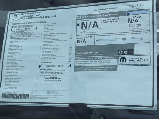 2020 Ram 5500 Regular Cab DRW 4x2, Scelzi SEC Combo Body #LG151861 - photo 17