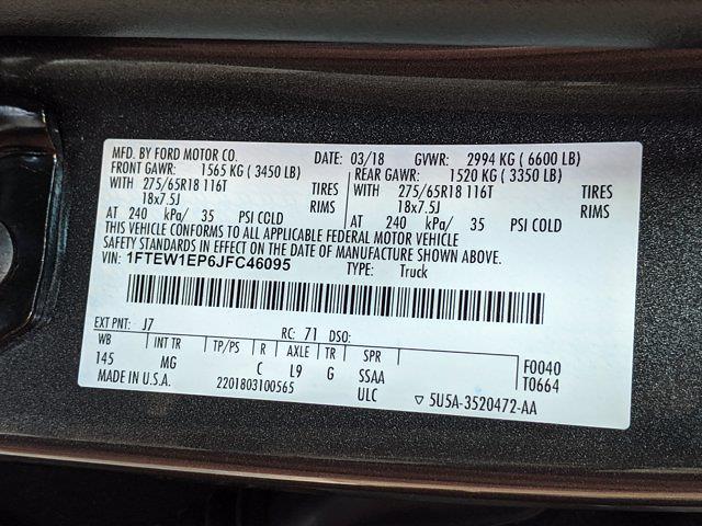 2018 Ford F-150 SuperCrew Cab 4x4, Pickup #JFC46095 - photo 26