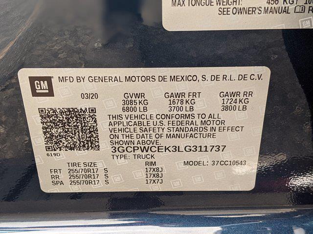 2020 Chevrolet Silverado 1500 Crew Cab 4x2, Pickup #LG311737 - photo 25